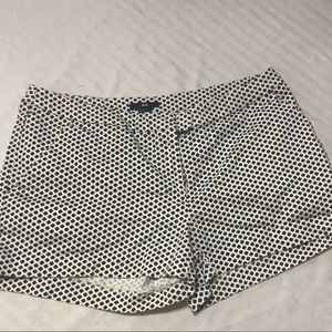 H&M white and black shorts.